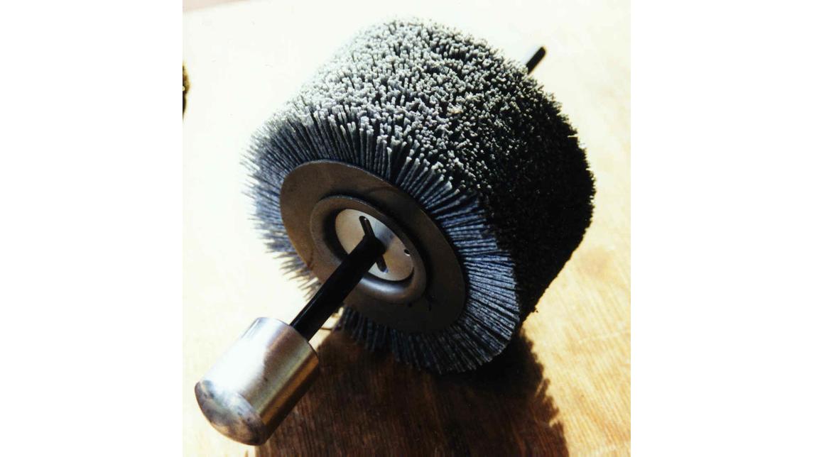 Logo sanding brushes