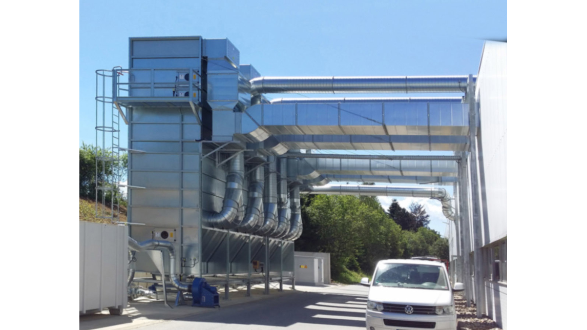Logo Dust extraction and filtration plants