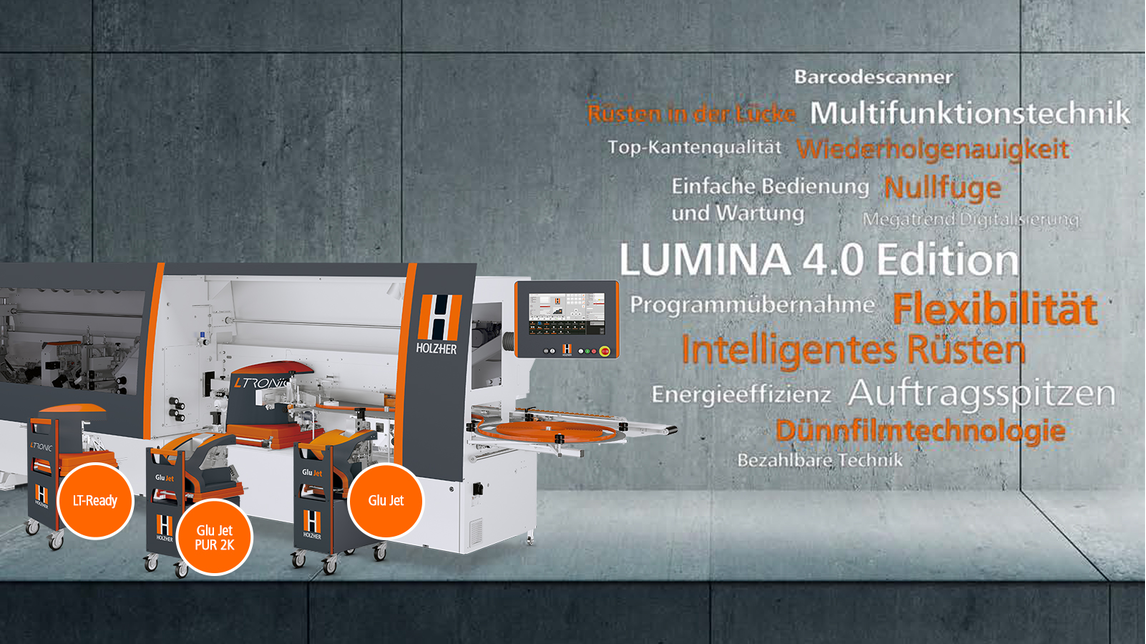 Logo LUMINA 1596 4.0 and RETURN-MASTER 5920