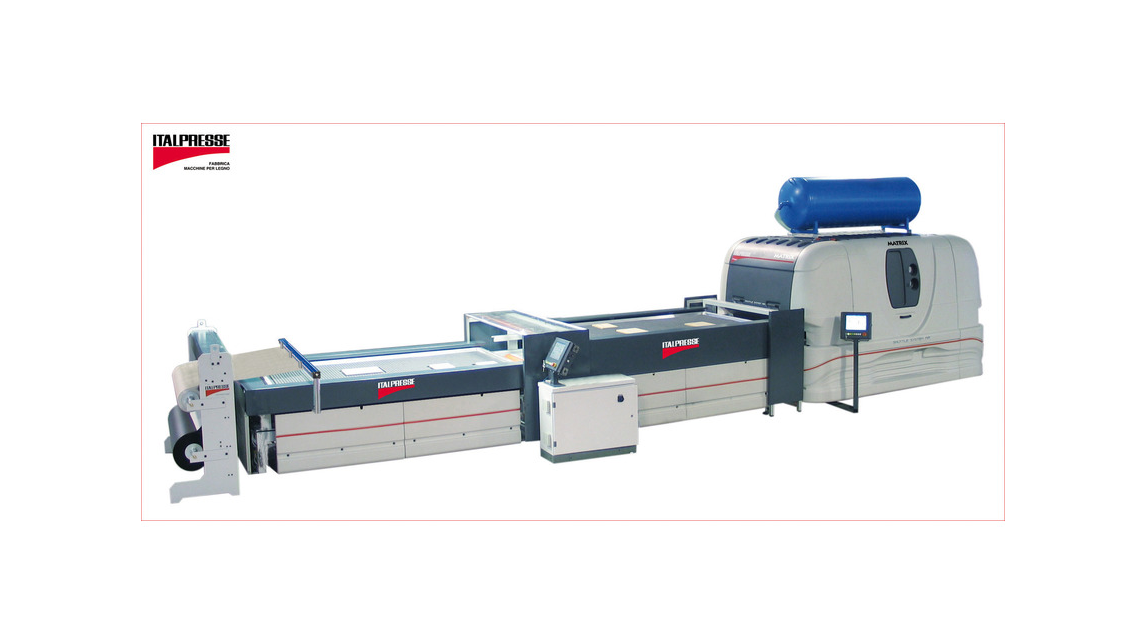Logo Membrane press with automatic pin support system MATRIX