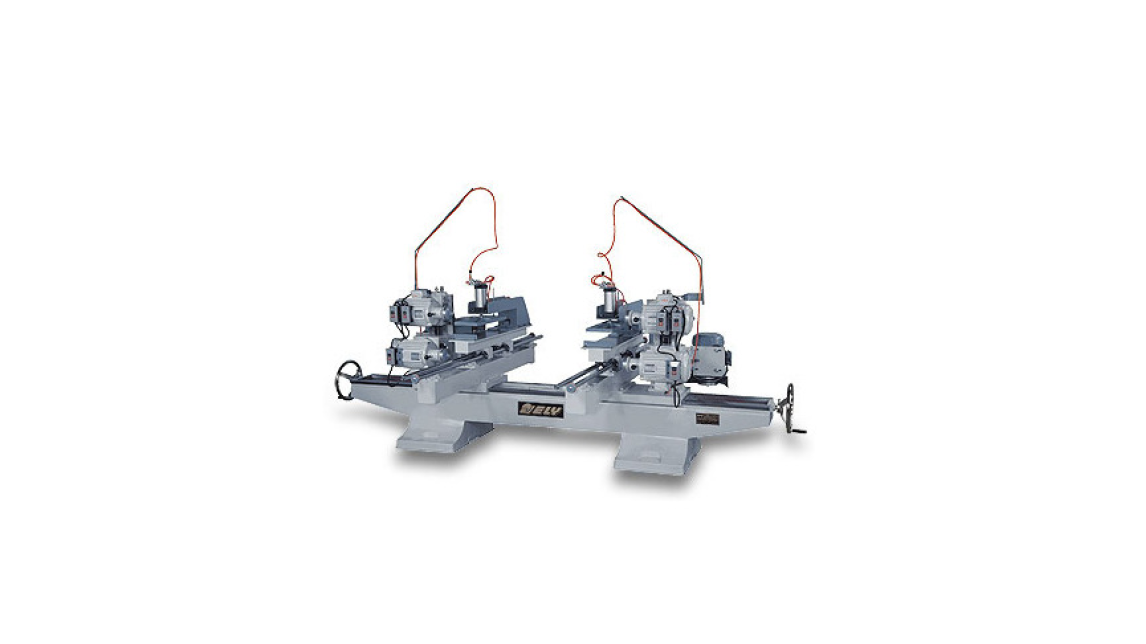 Logo Double End Top & Bottom Sawing & Shaping Machine (Air Clamping)