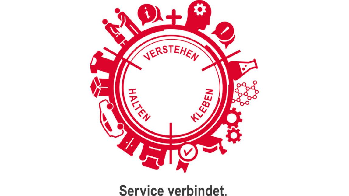 Logo Service verbindet.