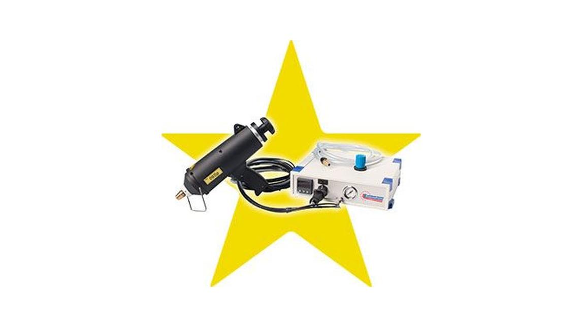 Logo Schmelzkleberpistolen für Granulate