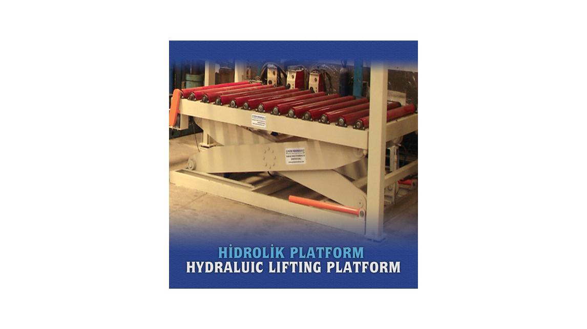 Logo Hydraulic platform with rool conveyor