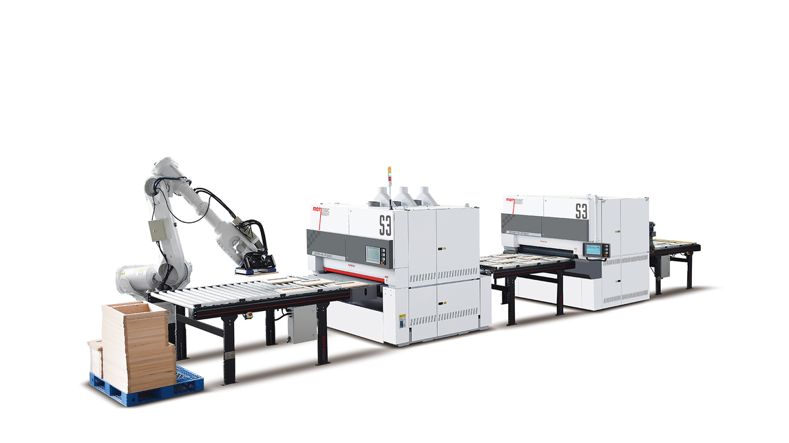 Logo Automatic snding processing line