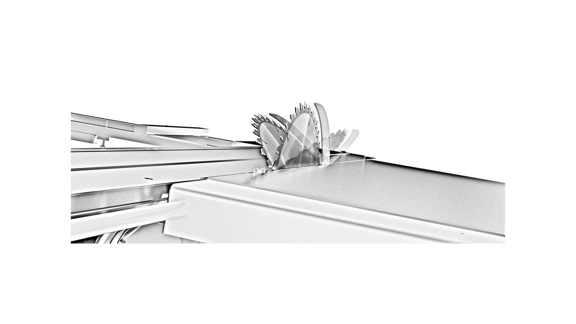 Logo Double blade tilting,  an important goal