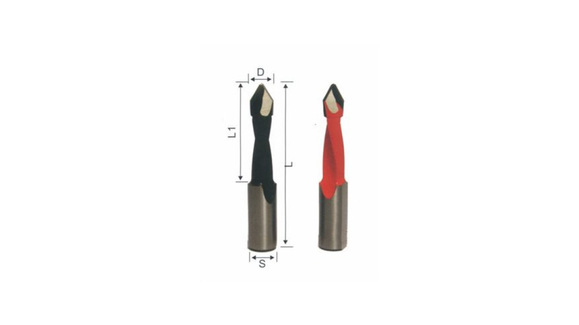 Logo Carbide tipped (HW) Throung-Hole drills