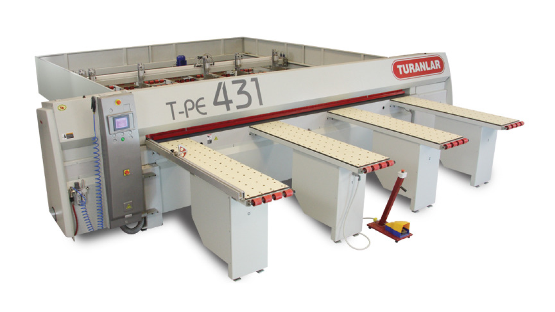 Logo T-PE 433 PLC Controlled Panel Sizing Machine