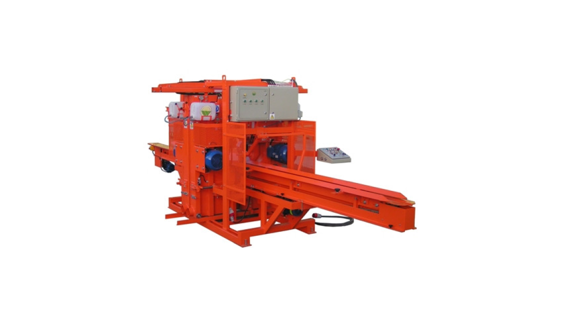 "Logo Vertical four-head band saw machine ""CZP-4"" with chain feed"