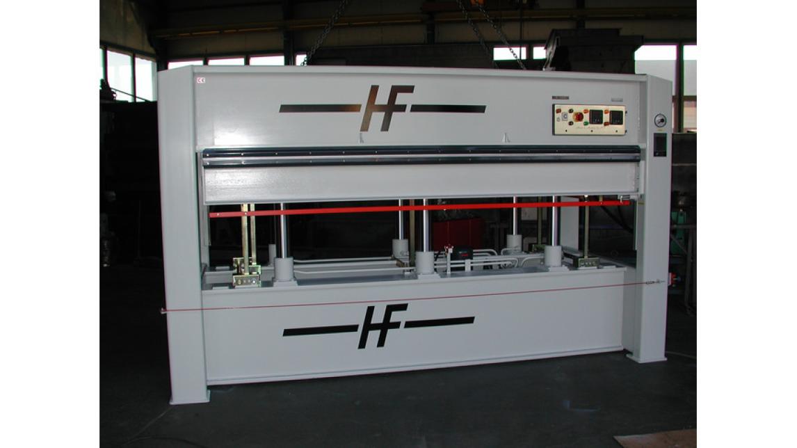 Logo Veneer Press with electro-hydraulic unit