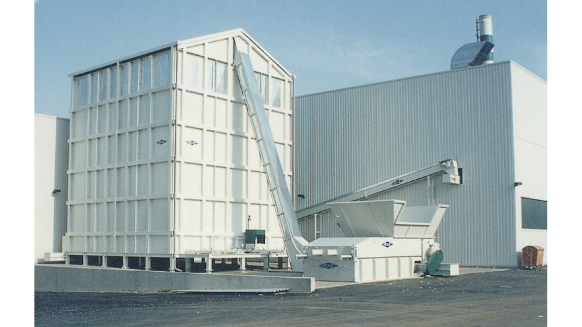 Logo Silo with discharge by walking floor