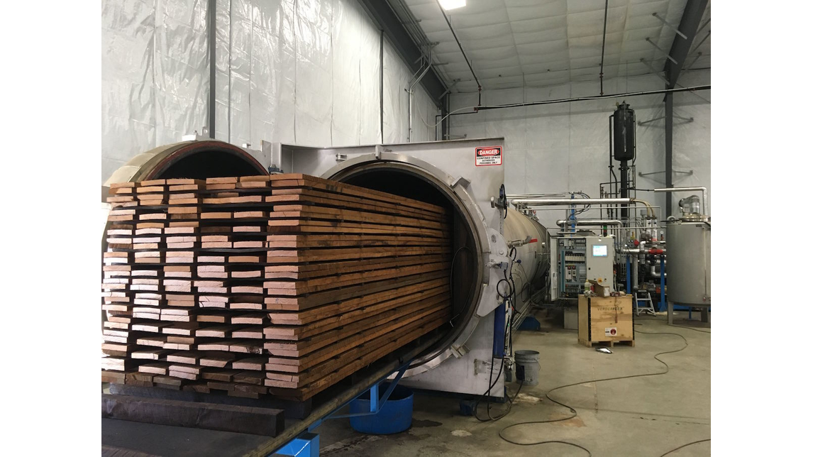 Logo High temperature wood treatment plant