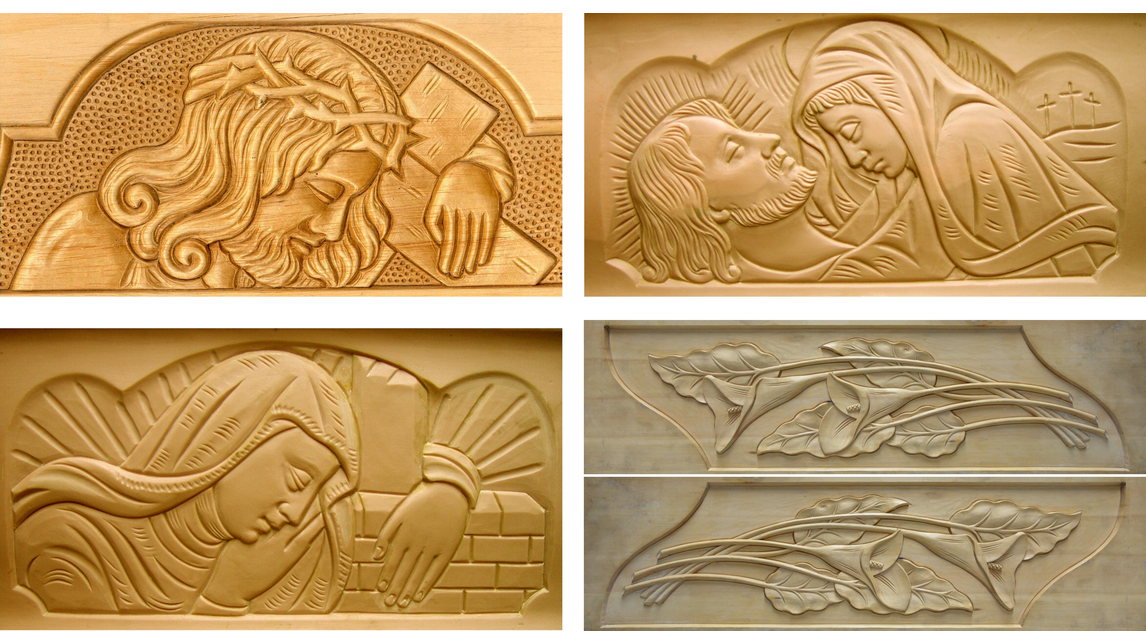 Logo Press moulds for embossing of caskets