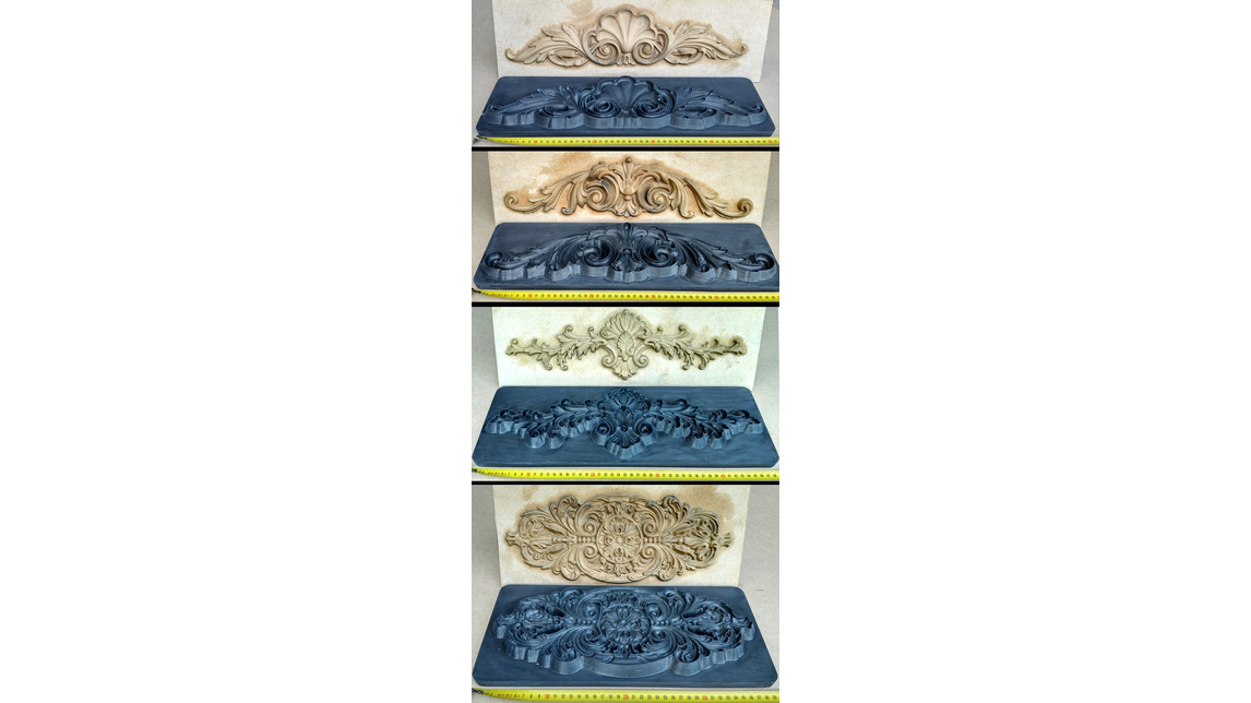 Logo Press-moulds for wood pulp/polyurethane