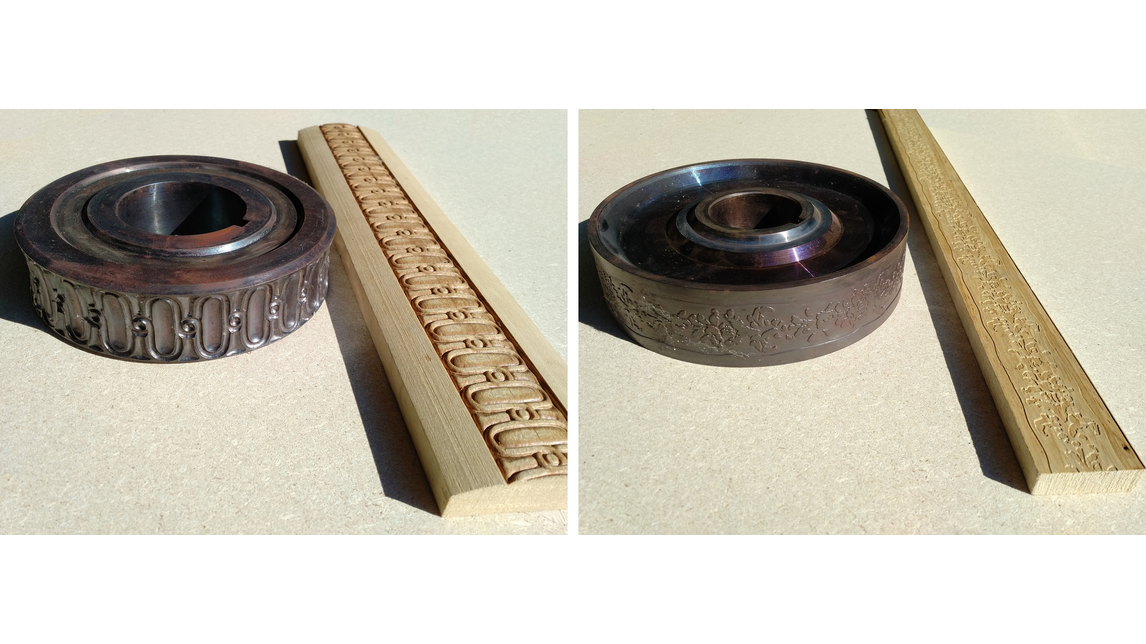 Logo Rollers for hot embossing and wood pulp